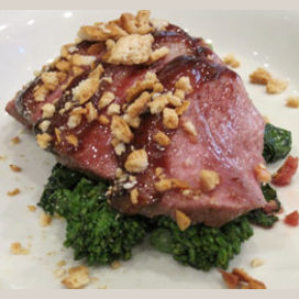 Island Duck with Mulberry Mustard