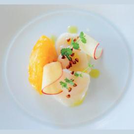 Scallop Sashimi with Meyer Lemon Confit