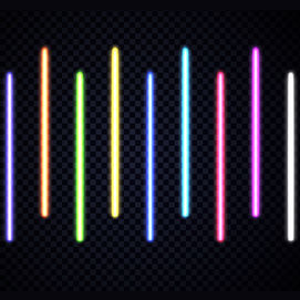Bright colors (neon, lots of neon!)