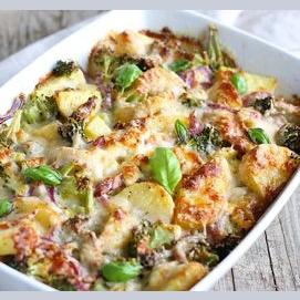 A vegetarian casserole