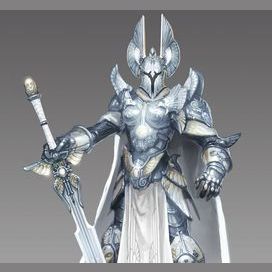 Paladin; you prefer to be a sturdy knight that is on the front lines preventing your teammates from being in danger. You have a secondary specialization in healing magic where primary is party status buffs.