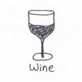 The glass of wine at the end of the day
