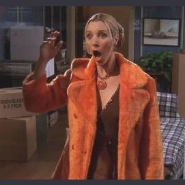 The orange fuzzy coat
