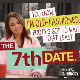 Booty's got to wait to at least the 7th date