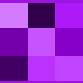 Purple, the colour of mystery.