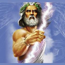 Zeus, god of sky and thunder