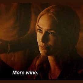 Drinking a glass of wine