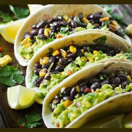 Loaded Guacamole Tacos