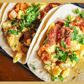 Classic Egg, Bacon, and Potato Tacos