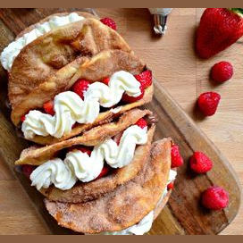 Strawberries and Cream Tacos