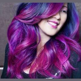My colourful hair!