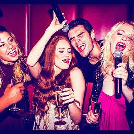 Hitting the karaoke bars.