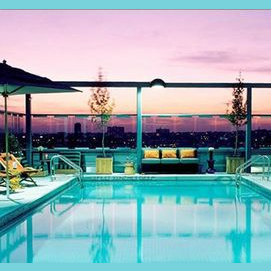 A roof top pool party