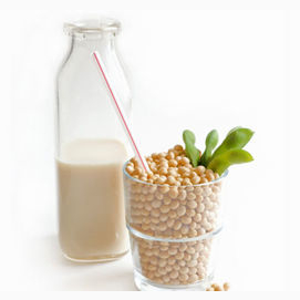 Strong with soya milk.