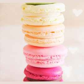 Sweet macaroons from France