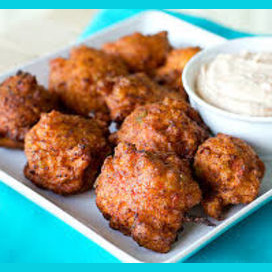 Conch fritters from the Bahamas