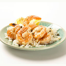 Shrimp picata from Italy