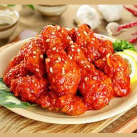 Spicy chicken wings from Korea