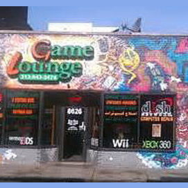 A gamers' lounge