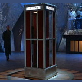 Time-traveling phone booth