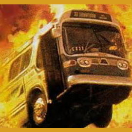 A bus highjacked with dangerous explosives