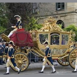 Aristocratic horse-drawn carriage