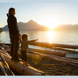 Taking in the landscape on your favorite family trip