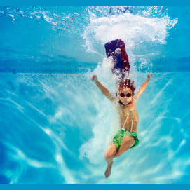 The temperature shock of jumping in a pool in Summer