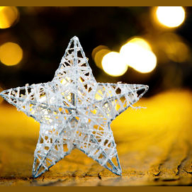 A illuminated star