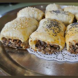 Vegan mushroom rolls