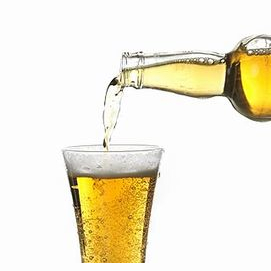 An ice cold beer