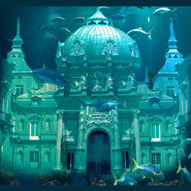 An underwater palace