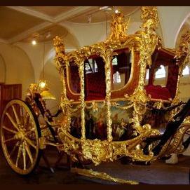 A golden chariot that flies