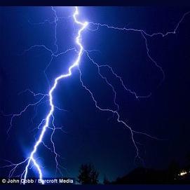 A Golden lightning bolt