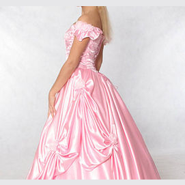 Beautiful pink prom dress