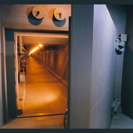 Underground bunker.