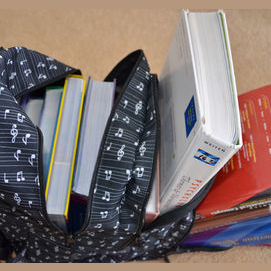 I kept all of my textbooks with me!