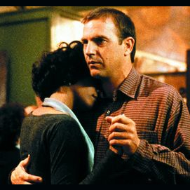 Whitney Houston and Kevin Costner (The Bodyguard)