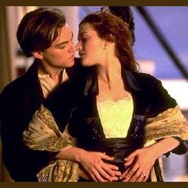Leonardo DiCaprio and Kate Winslet (Titanic)