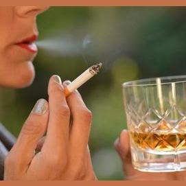 Smoking or drinking