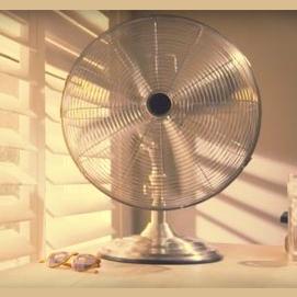 a fan blowing.