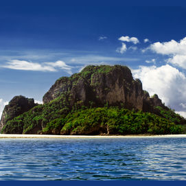 A deserted island
