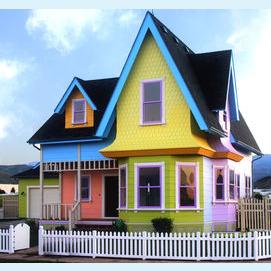 A quaint and colorful cottage