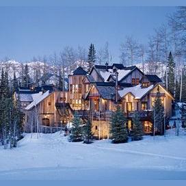 A winter chalet