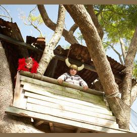 """Peaceful tree house"""