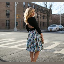 High waisted skirt and simple top