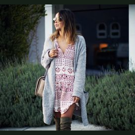 A flowy tunic and cosy knits