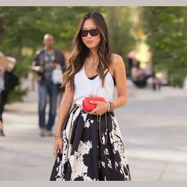 Cute dress and statement bag
