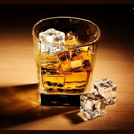 Whiskey, rocks!