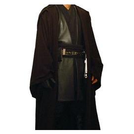 Dark brown and black Jedi robes